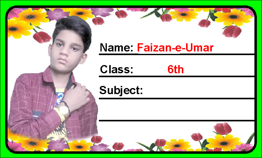 student name sticker