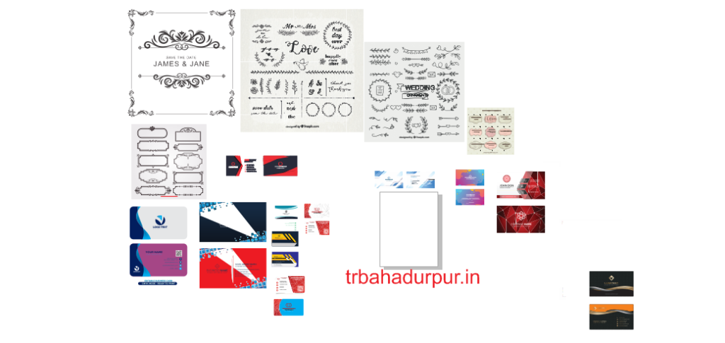 vector and visiting card template